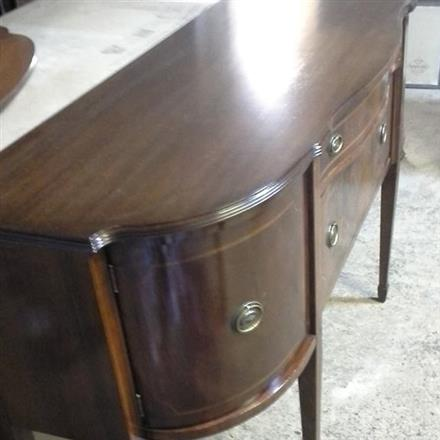 Sideboard with Patterned Water Damage