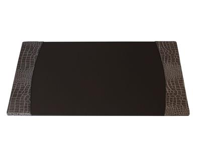 Protacini Italian Patent Leather Side-Rail Desk Pad P6101