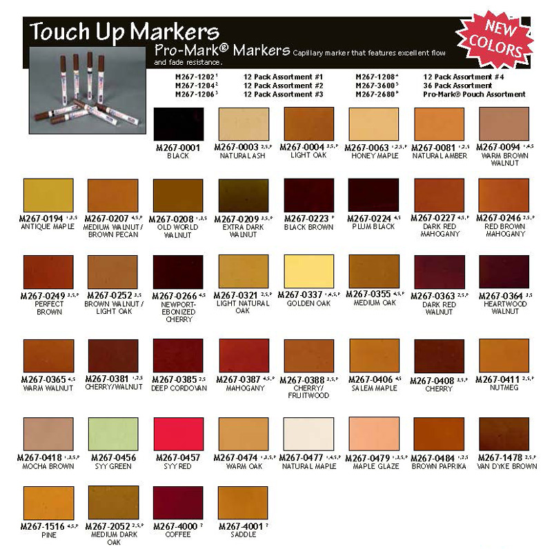 Pro-Mark II - (12) Marker Assortments M267-12