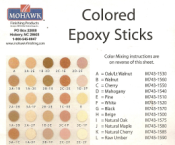 Epoxy - Beige or Pine (2) 6in. sticks M743-1500