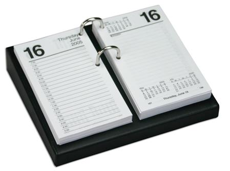 Classic Leather Desk Top Calendar Holder