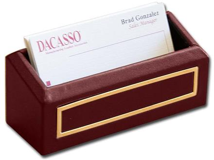 24 Kt. Gold Tooled Burgundy Business Card Holder