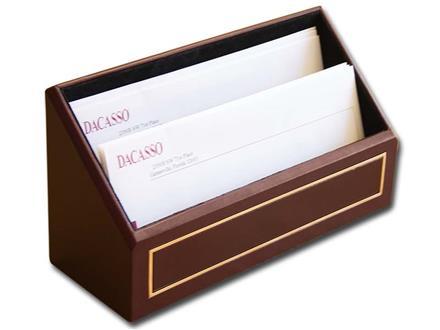 24 Kt. Gold Tooled Burgundy Letter Rack
