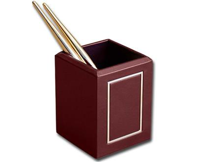 24 Kt. Gold Tooled Burgundy Pencil Cup